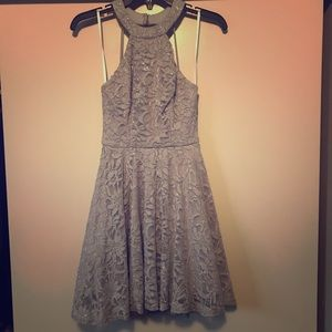 B Darlin Junior Dress Size 3 Silver